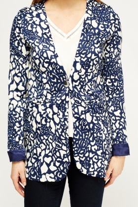 Casual Printed Blazer