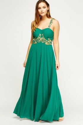 Beaded Embellished Maxi Dress