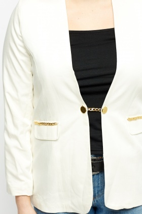 Chain Trim Blazer