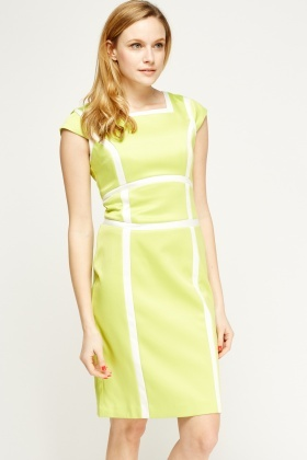 Colour Block Panel Dress