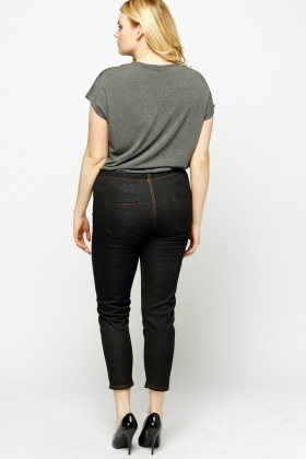 Detailed Elasticated Jeggings