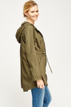 Khaki Parka Waterproof Thin Jacket - Just £5