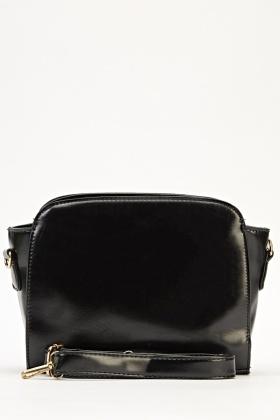 Small Faux Leather Winged Handbag