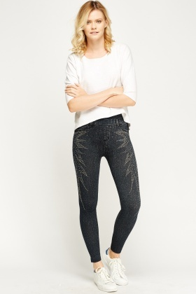 Studded Casual Jeggings