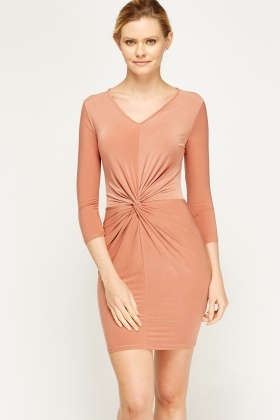 Twist Knot Bodycon Dress