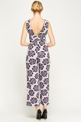 Wrap Textured Print Jumpsuit