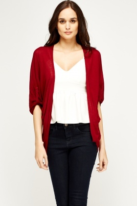 Thin Knit Flare Cardigan