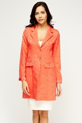 Embossed Contrast Jacket