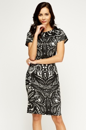 Multi Print Silky Dress