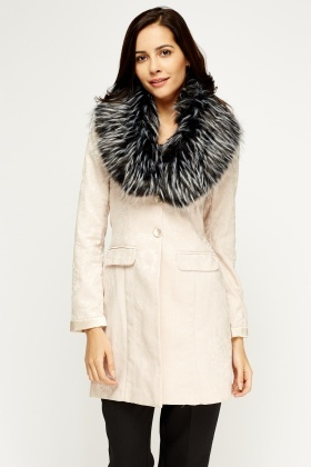 Speckled Faux Fur Collar