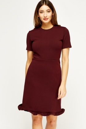 Frilled Hem Pencil Dress