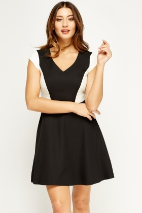 Mono Cut Out Back Swing Dress