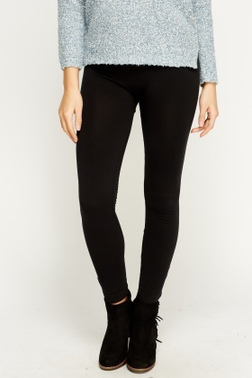 Thick Fleece Lined Black Leggings