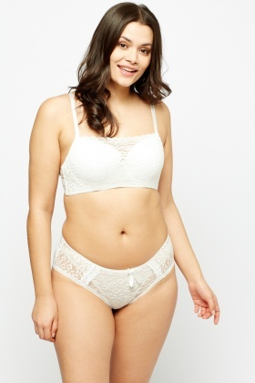 Overlay Lace Bra And Brief Set