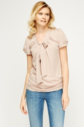 Tied Neck Casual Top