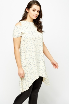 Asymmetric Cold Shoulder Tunic