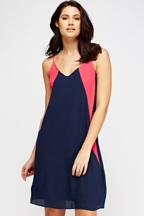 Colour Block Swing Dress
