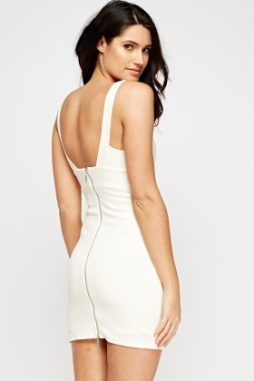 Cut Out Plunge Bodycon Dress