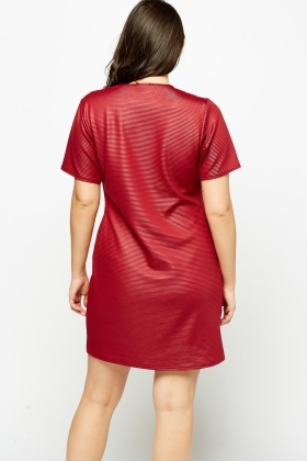 Ribbed Shift Dress