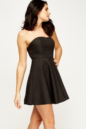 Bandeau Black Mini Dress