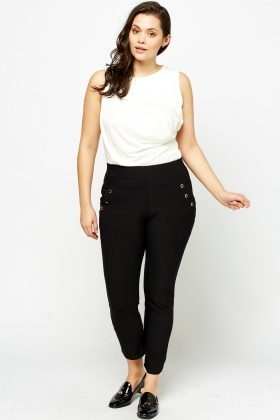 Detailed Pocket Leggings