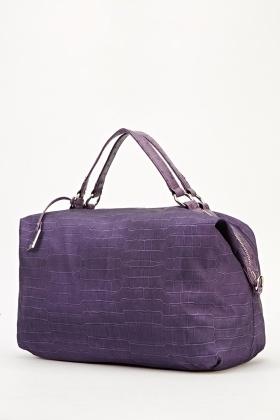 Mock Croc Purple Handbag