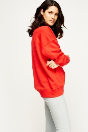 Red Casual Jumper