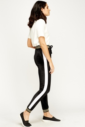Velveteen Elasticated Joggers