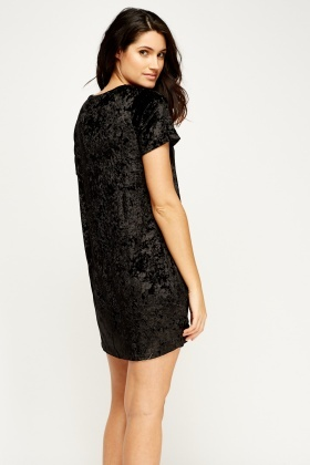 Velveteen Shift Dress