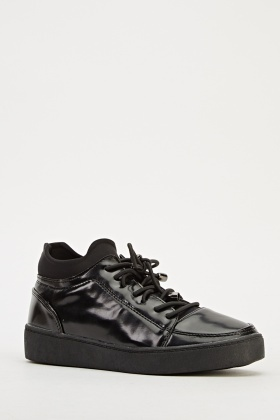 Insert Elasticated Trim High Top Trainers