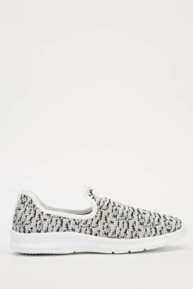 Contrast Platform Speckled Slip On Trainer