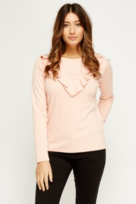 Frilled Long Sleeve Top