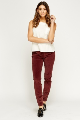 Skinny Cord Trousers