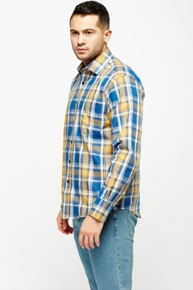 Checked Blue Shirt