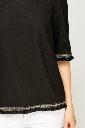 Embellished Trim Top