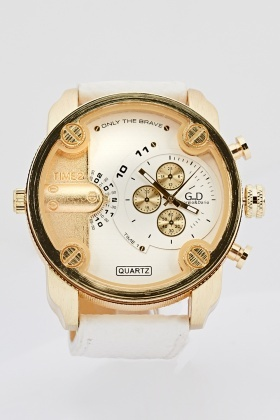 Mens Chunky Chronograph Watch