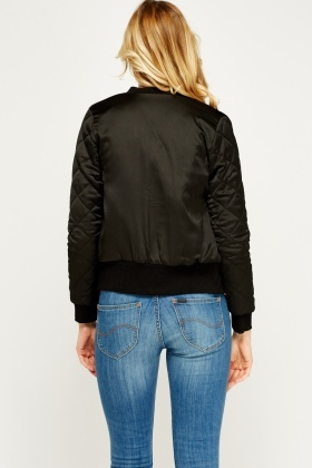 Quilted Padded Bomber Jacket