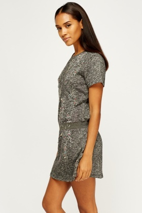 Encrusted Shift Dress