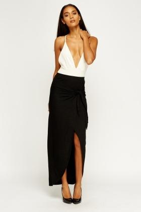 2aeaa1e192 Ribbed Wrap Maxi Skirt - Just £5