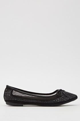 Court Studded Mesh Insert Shoe