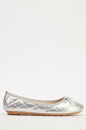 Quilted PVC Ballet Pumps