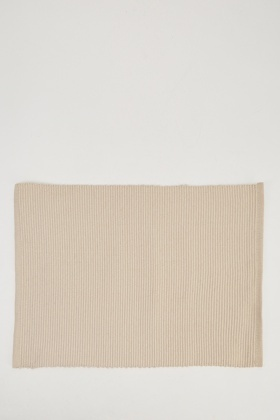 Set Of 2 Sand Ribbed Dinner Mats