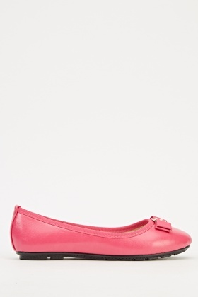 Detailed Bow Ballet Pumps