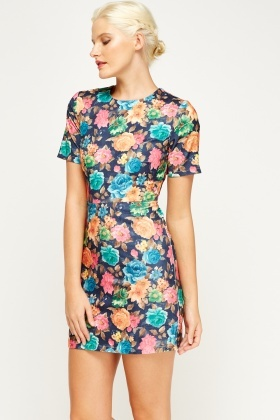 Floral Mini Bodycon Dress