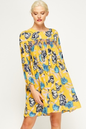 Floral Printed Tent Dress  sc 1 st  Everything5Pounds & Floral Printed Tent Dress - Just £5