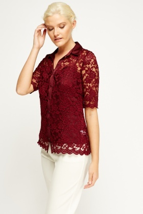 Lace Blouse And Top Set