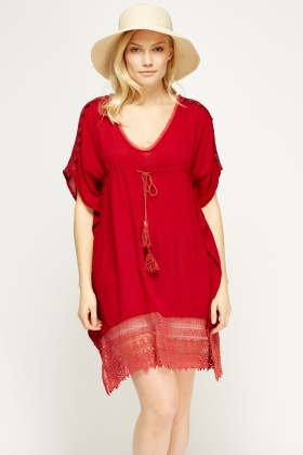 Crochet Trim Cover Up Top