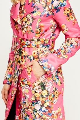 Floral Printed Double Breasted Jacket