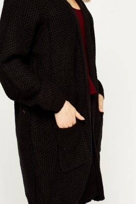 Loose Knit Long Line Cardigan