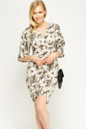 Wrapped Floral Dress